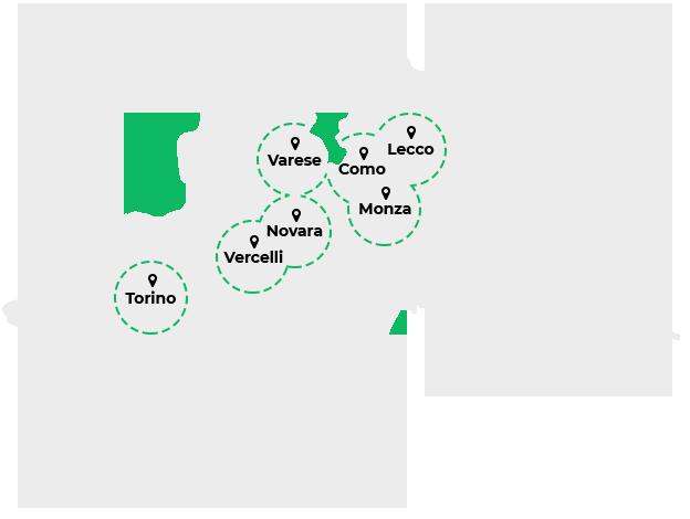 Radiografie a domicilio a Torino, Vercelli, Novara, Varese, Como, Monza e Lecco.
